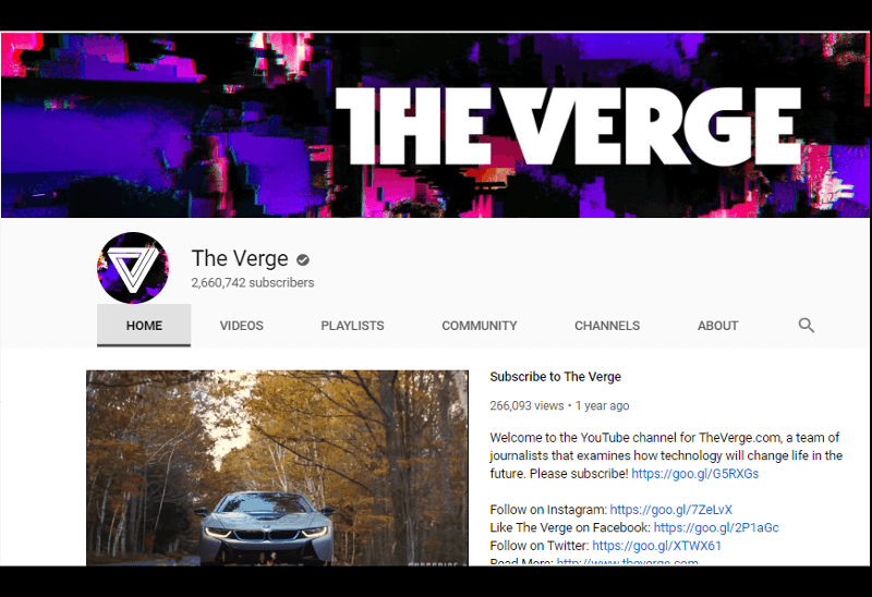The Verge - YouTube channel