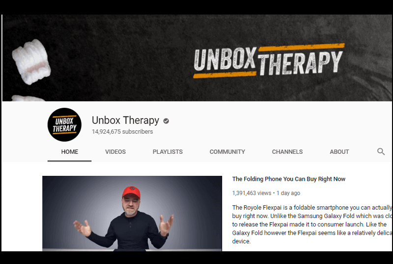 Unbox Therapy - Youtube Channel