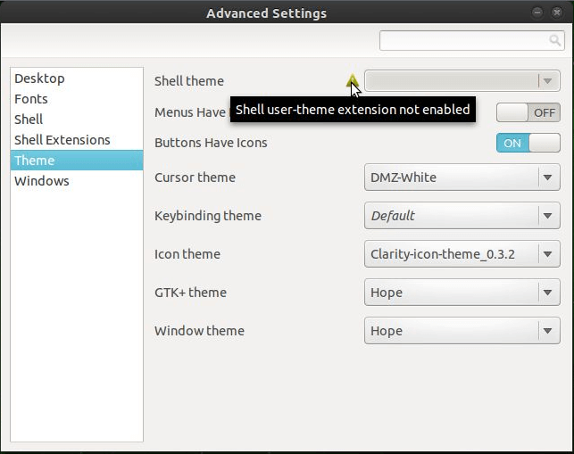 User Themes Gnome Extension