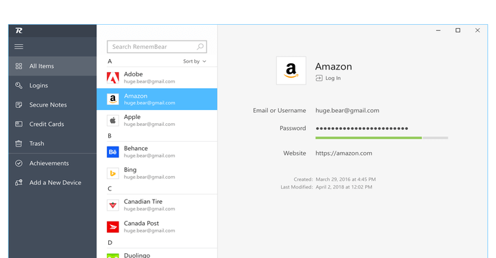 RememBear Secure Password Manager