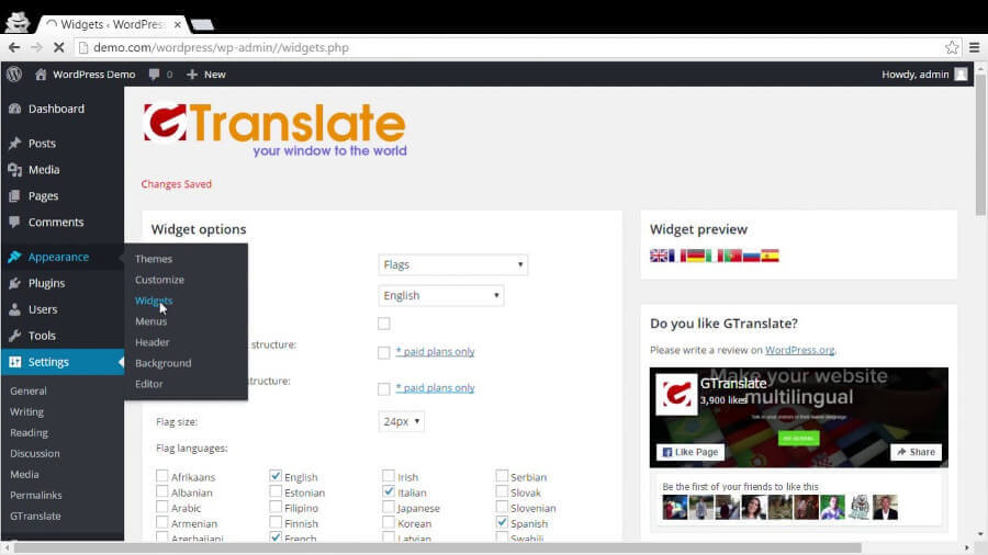 GTranslate - Plugin
