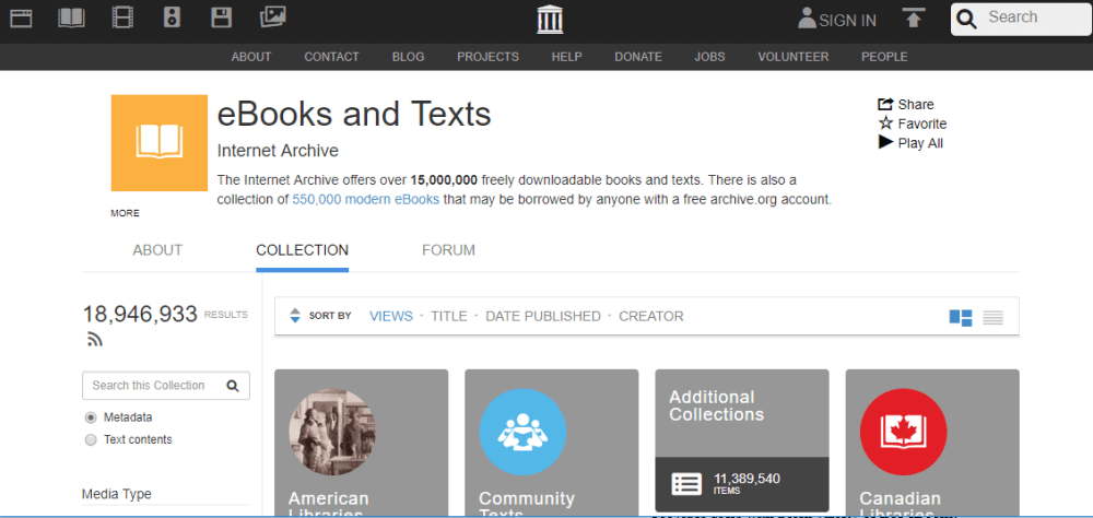 Internet Archive Ebook Website