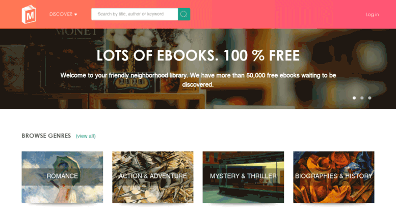 ManyBooks Ebook Website