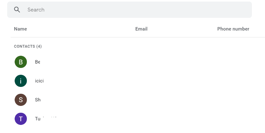 Gmail Contact List