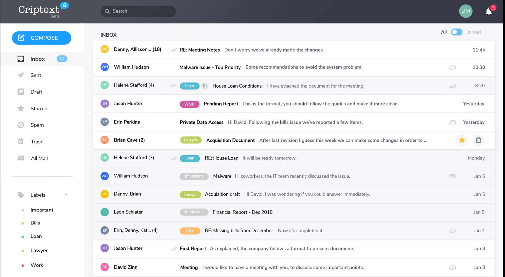Criptext - secure email built on privacy