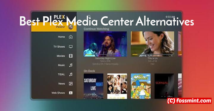 Plex Media Center Alternatives