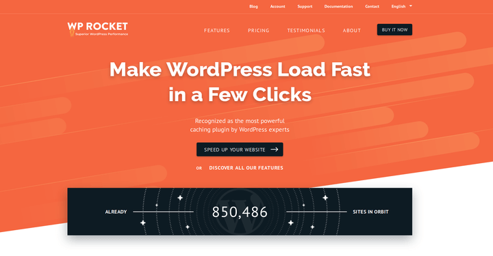WP Rocket Make WordPress Site Faster