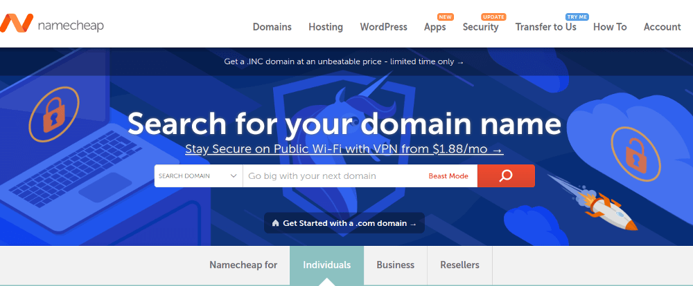 NameCheap - Web Hosting Service