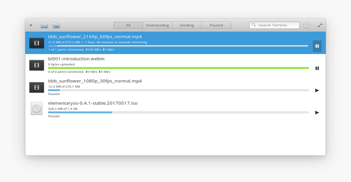 Torrent Client for ElementaryOS