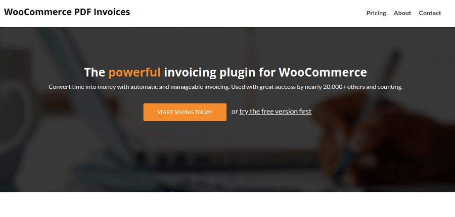 Woocommerce PDF Invoices - Plugin