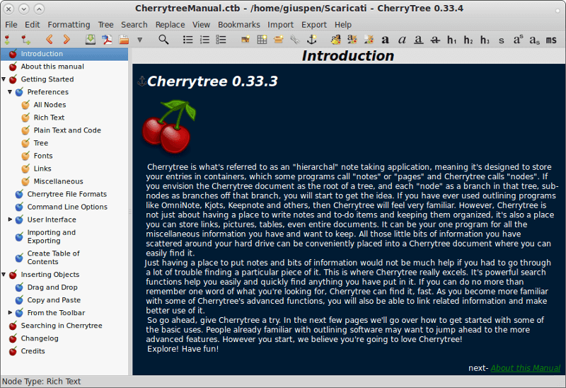CherryTree - Note-Taking App