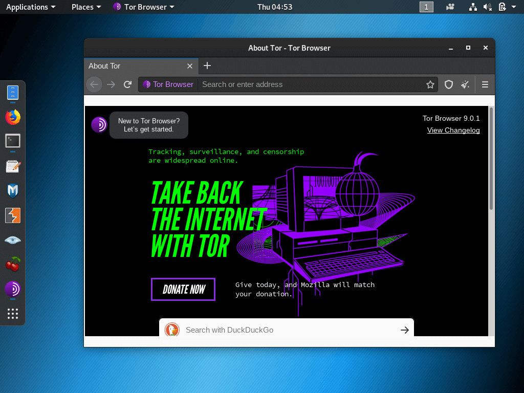 tor browser linux update hyrda