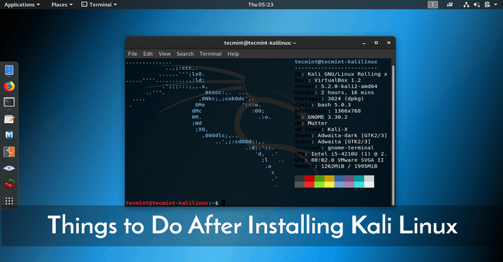 Things to Do After Installing Kali Linux