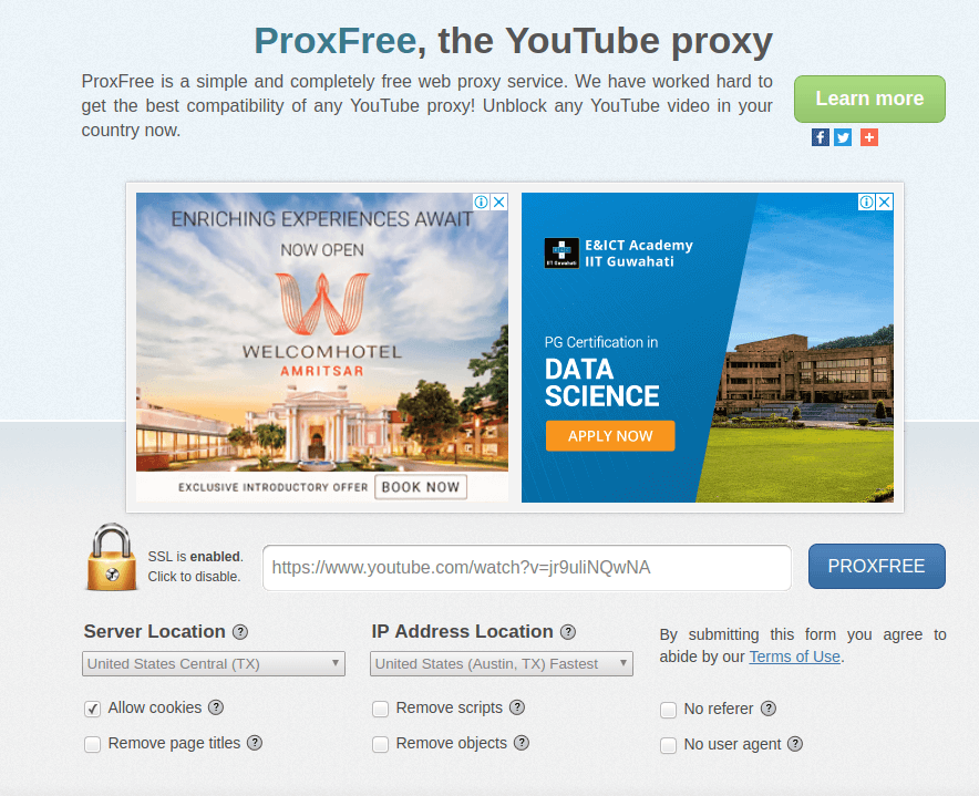 Watch Country Restricted Youtube Videos Using Proxy