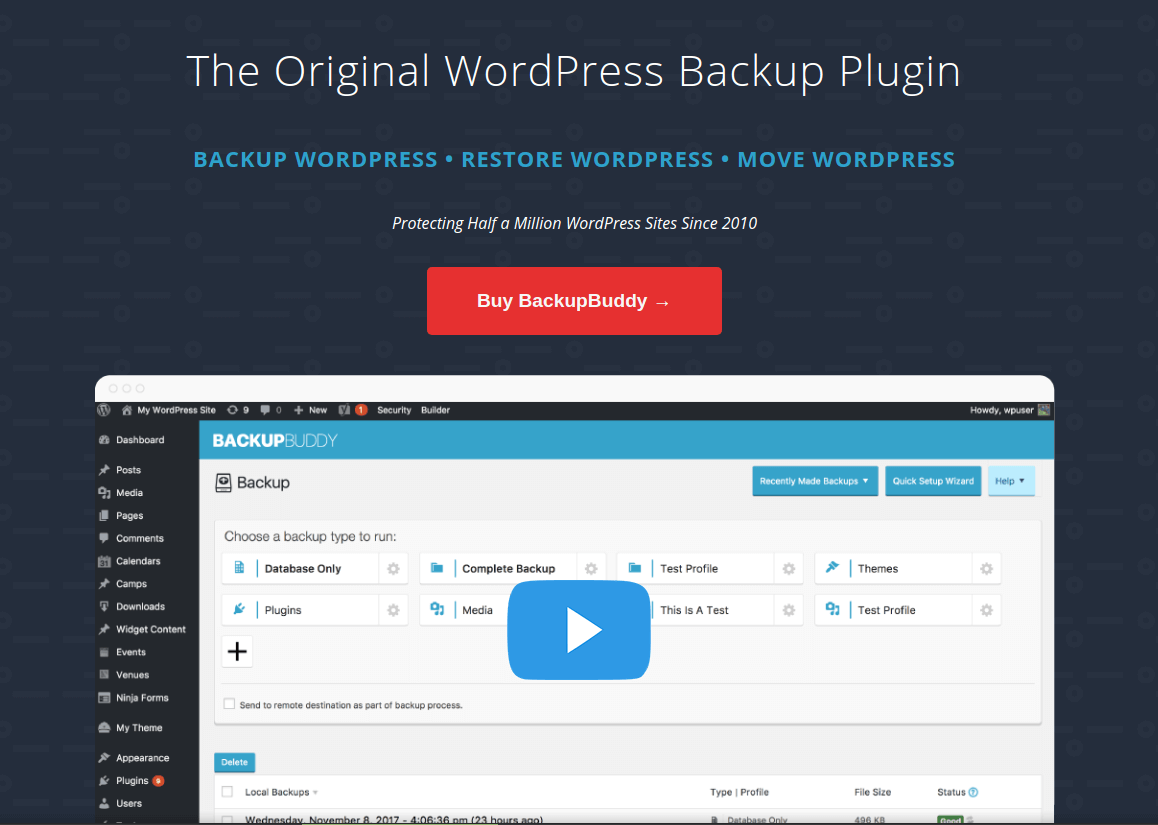 BackupBuddy - WordPress Backu Plugin
