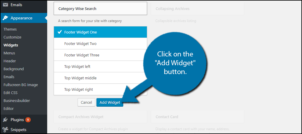 Category Wise Search