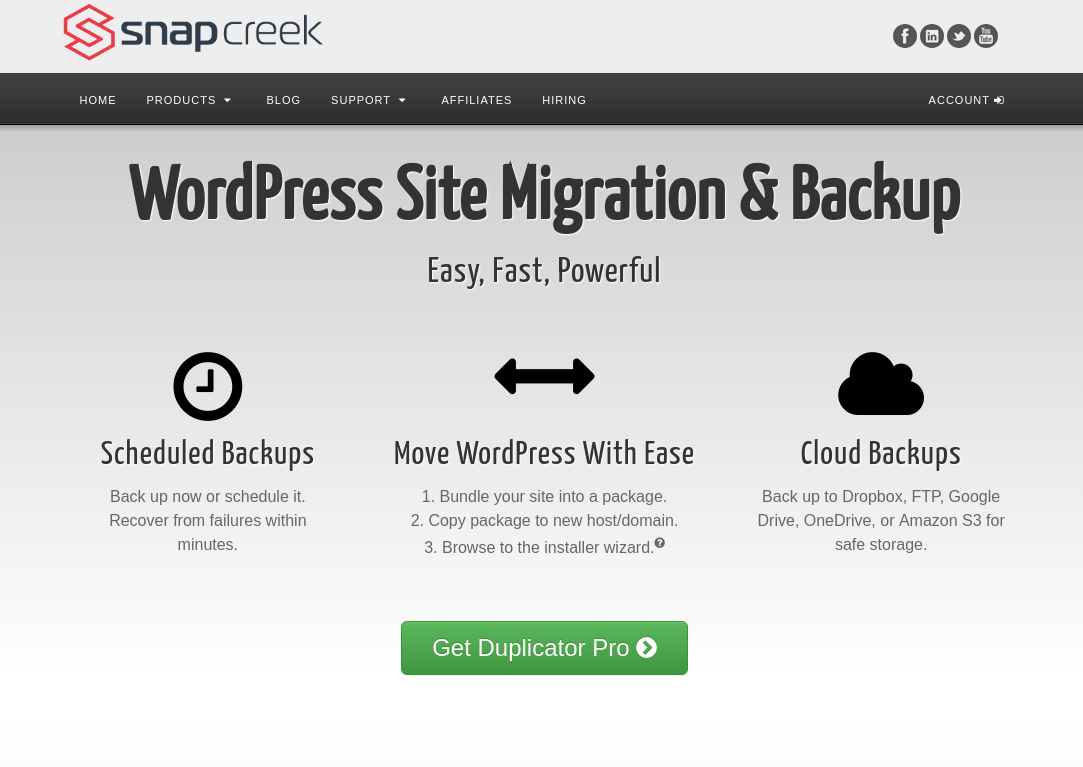 Duplicator Pro - WordPress Site Migration Plugin