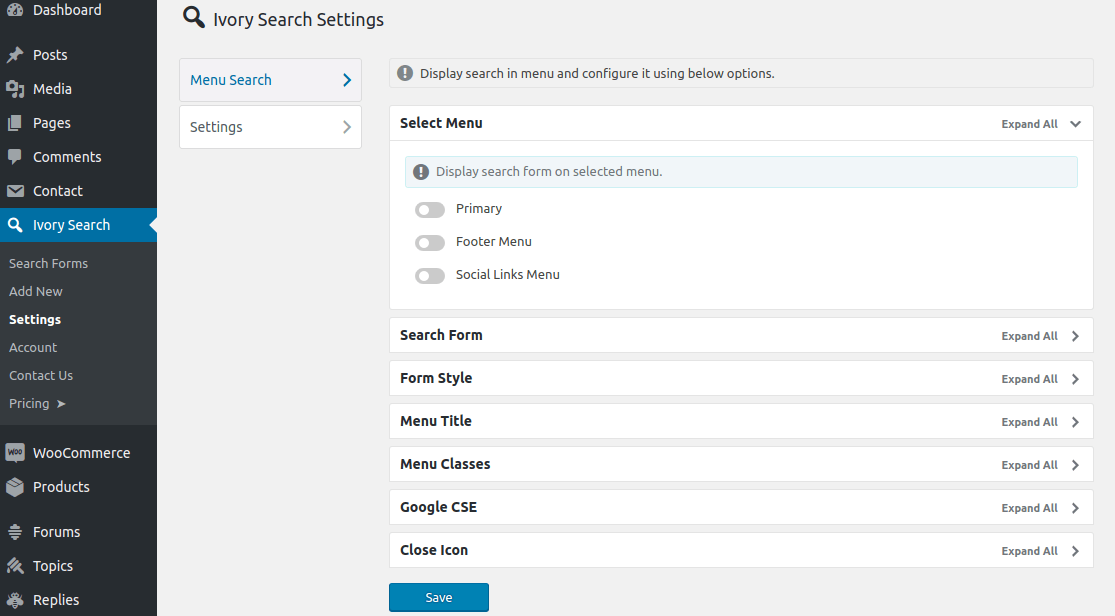 Ivory Search Plugin