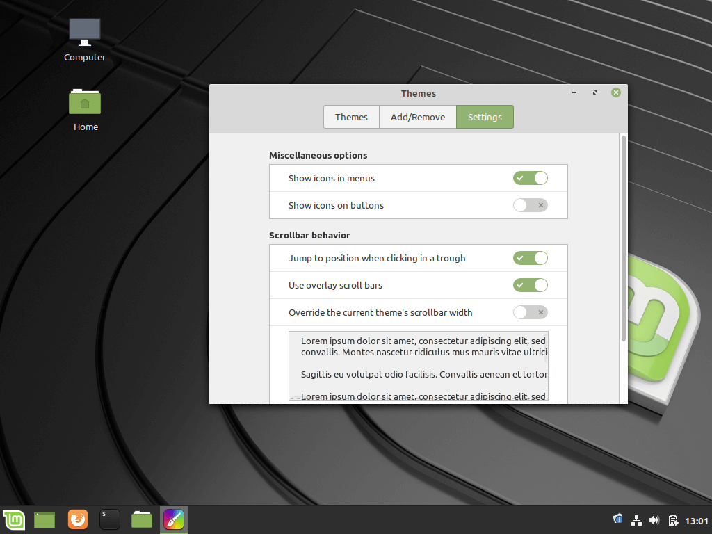 Linux Mint Customization
