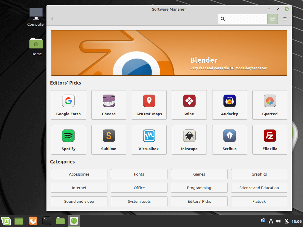 Linux Mint Software Center