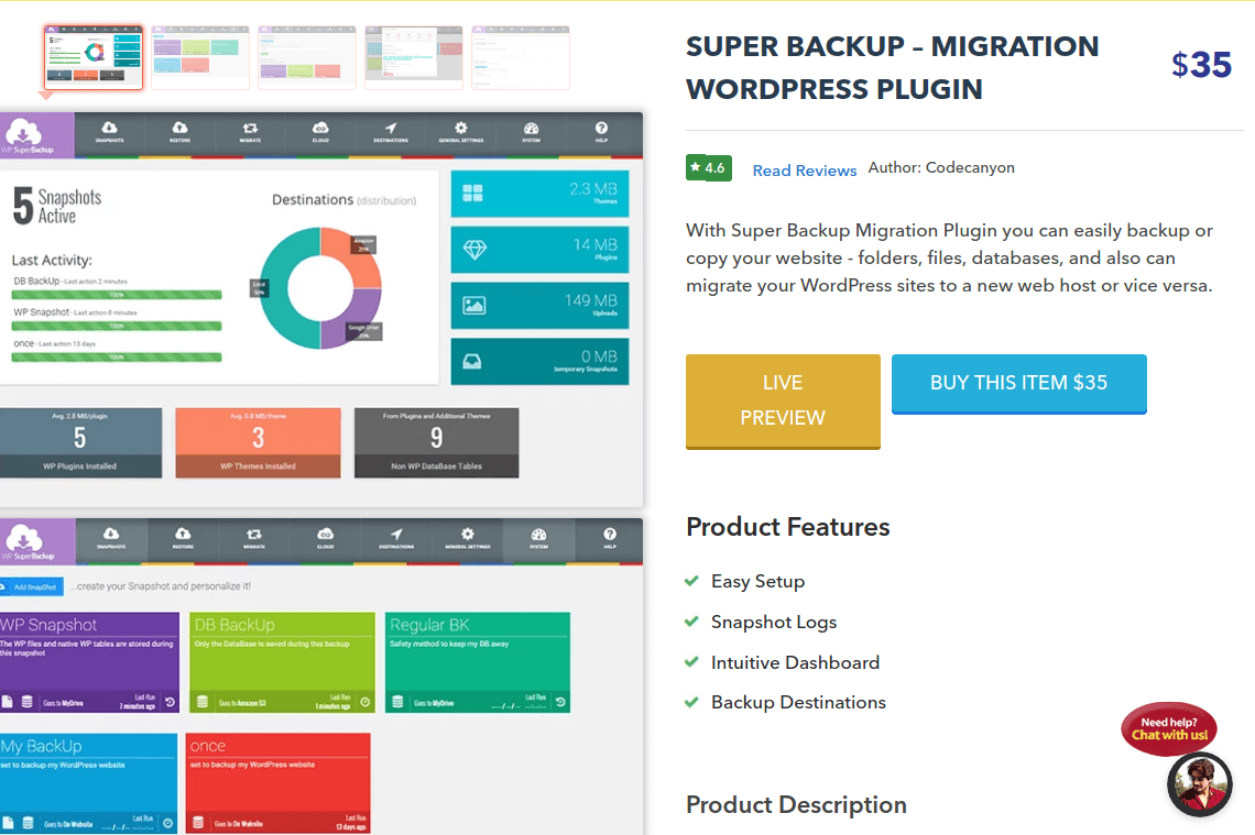 Super Backup - Migration WordPress Plugin