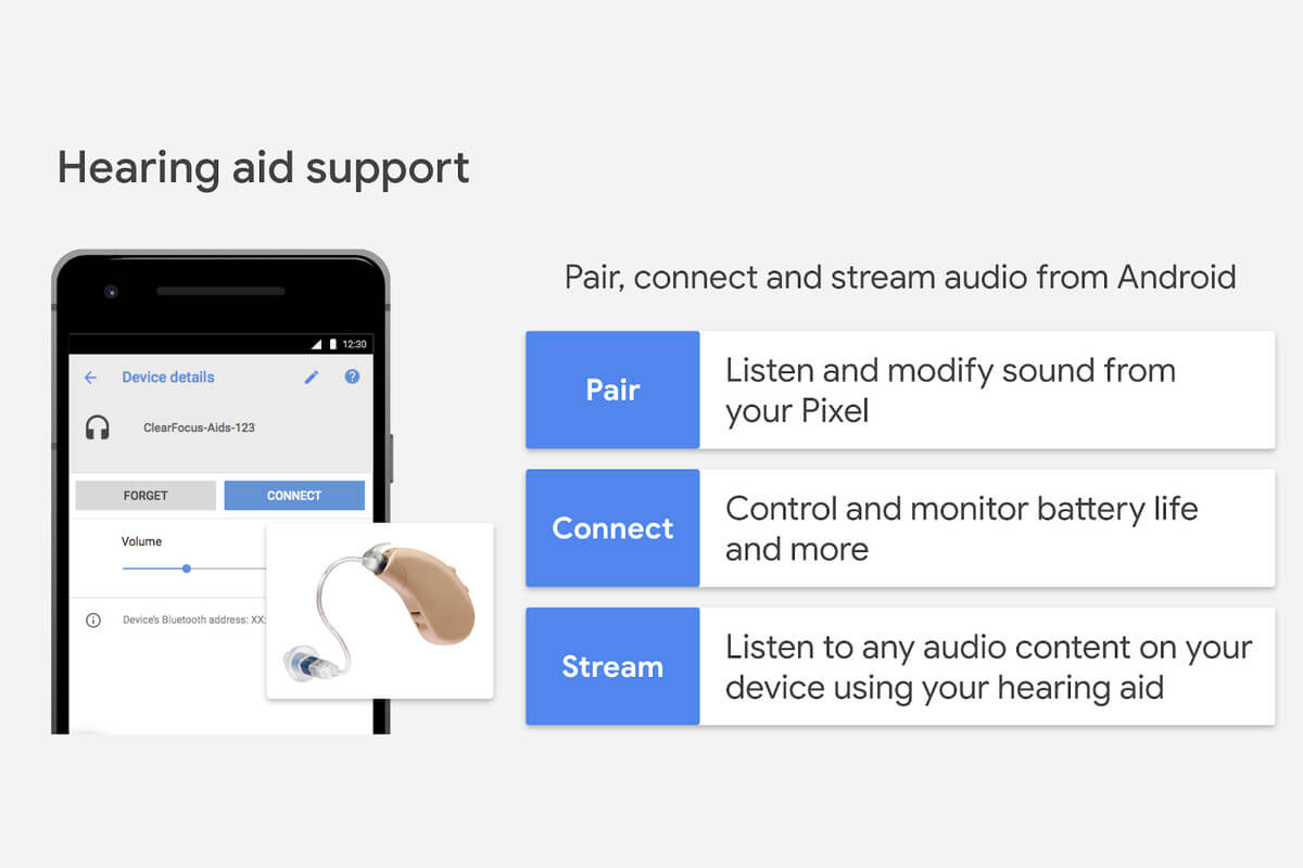 Android Q Hearing Aids Support