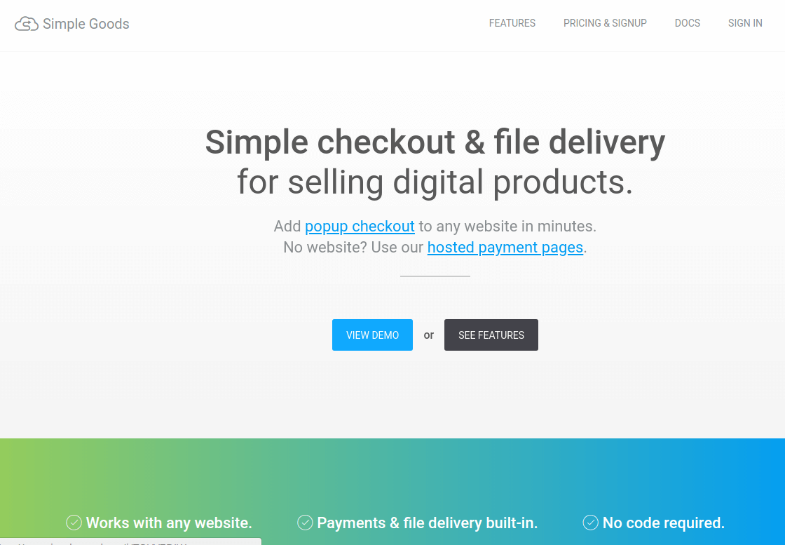 Simple Goods - Selling Digital Products