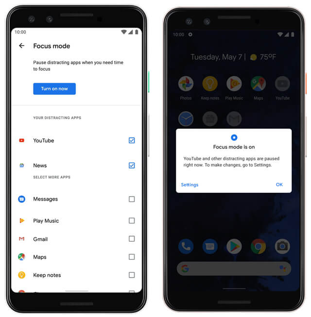 Android Q Focus Mode