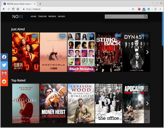NOXX – Movie & TV Show Streaming Site