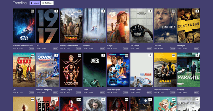 list of free movie streaming sites