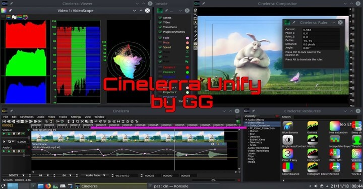 Cinelerra GG Infinity - Linux Video Editing Software
