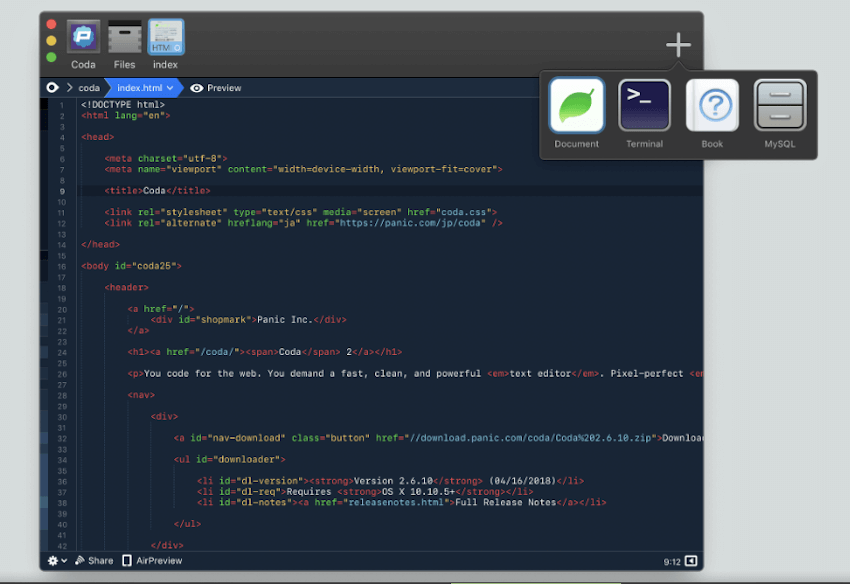 Coda 2 Text Editor For Mac