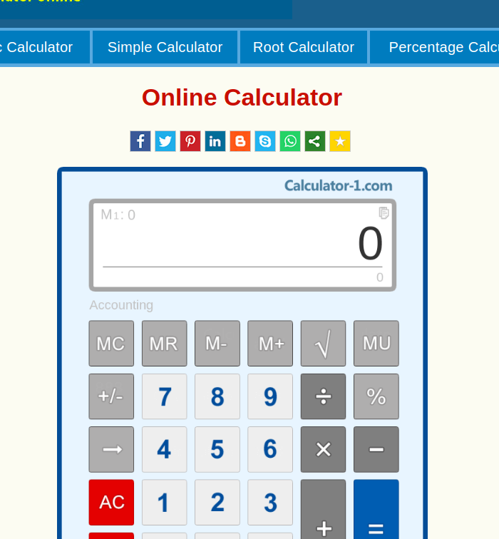 Free Handy Calculator
