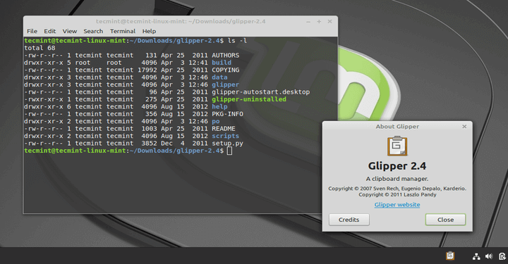 Glipper Clipboard Manager for Ubuntu