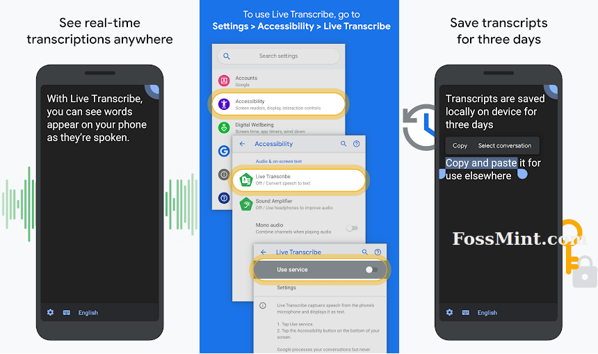 Live Transcribe - Android Dictation App