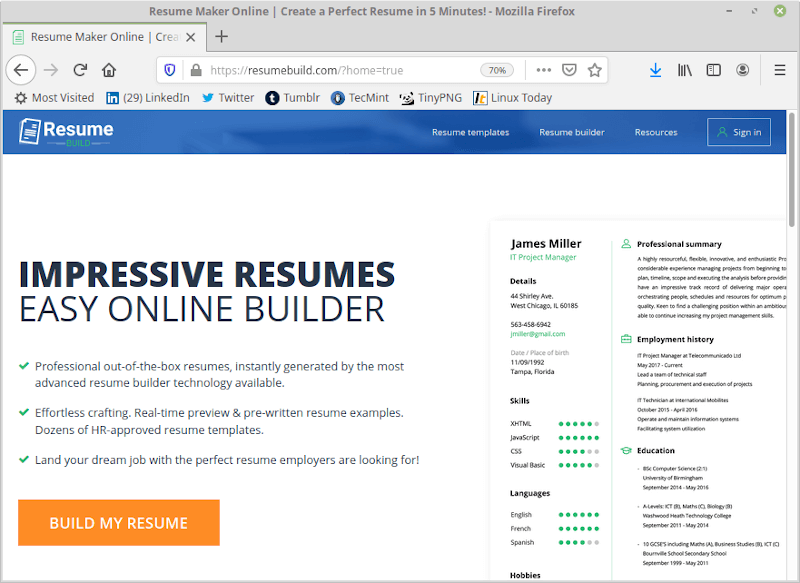 Resume Build - Resume Maker