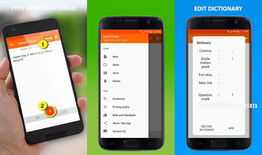 SpeechTexter - Android Dictation App