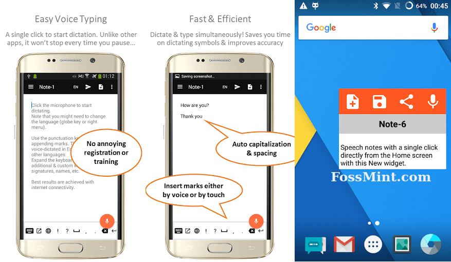Speechnote - Android Dictation App