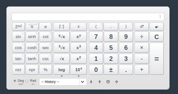 Web2.0calc Scientific Calculator