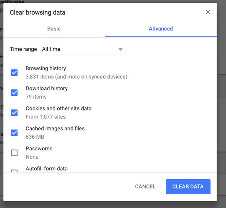 Delete Stored Email History