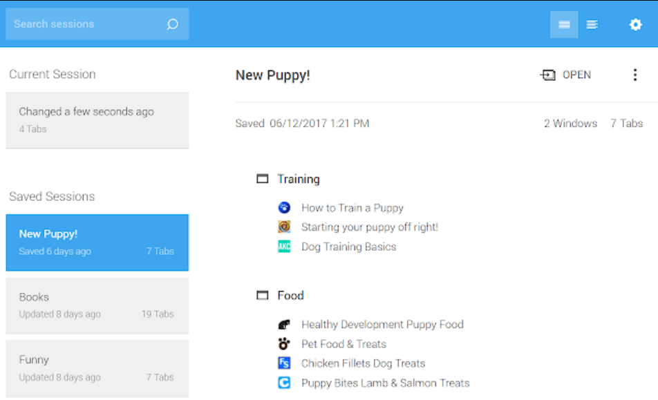 Session Buddy - Chrome Extension