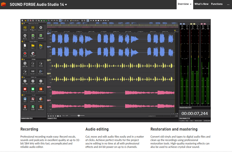 Sound Forge Audio Studio - Best Audacity Alternative