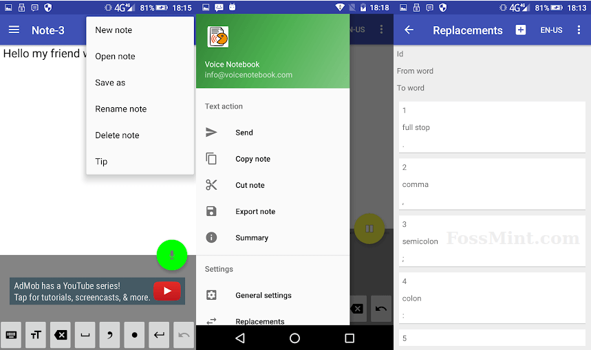 Voice Notebook - Android Dictation App