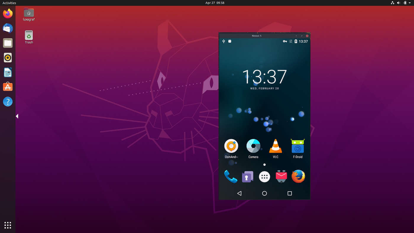 Mirror & Control Android Phone from Ubuntu