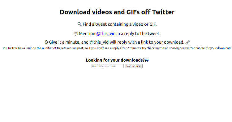 this_vid - Twitter Tool