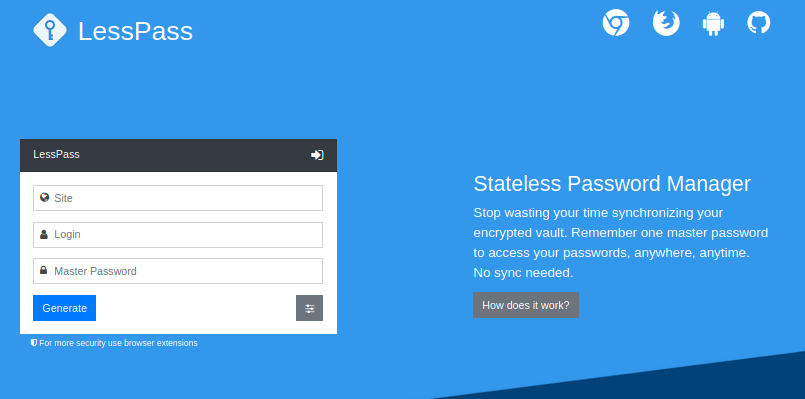 LessPass Password manager