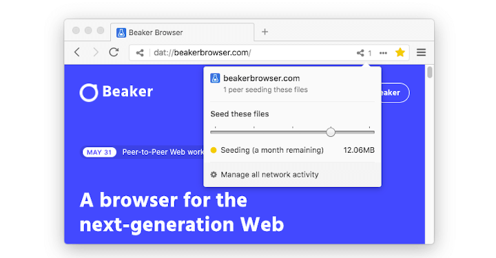 Beaker P2P Web Browser