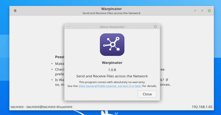 Warpinator - Share Files Over Network in Ubuntu