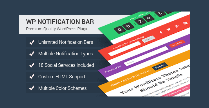 WordPress Notification Bar Plugins