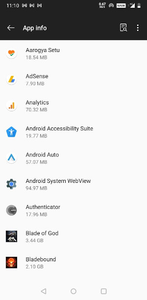 Android Installed Apps